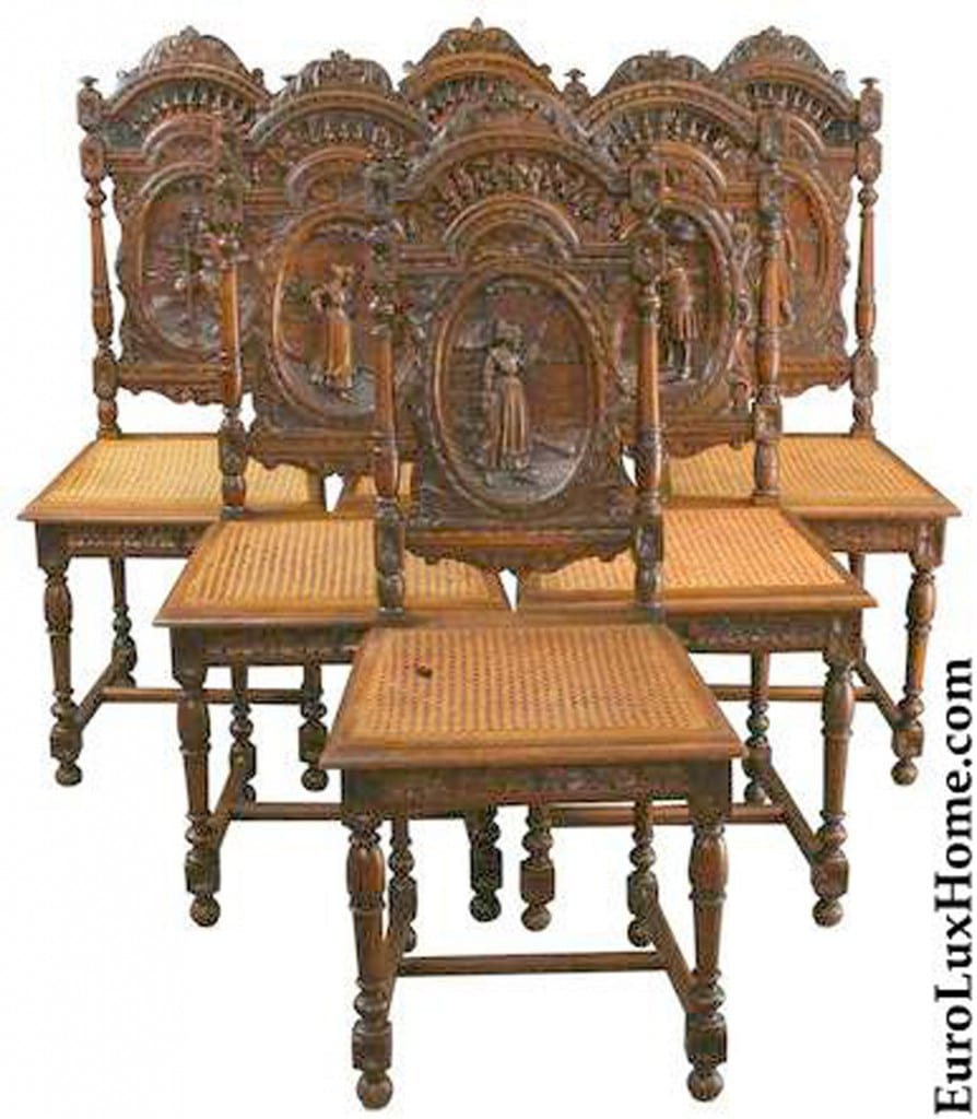 Antique French Brittany chairs