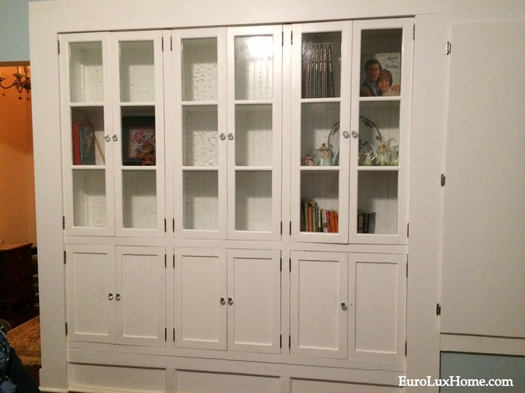 Finished bookcase with doors