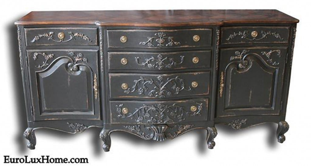 French Country Sideboard blackwash