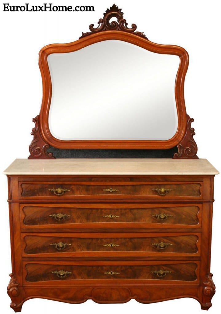 antique French Rococo Chest of Drawers