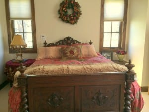 French Antique Bed Converted in size
