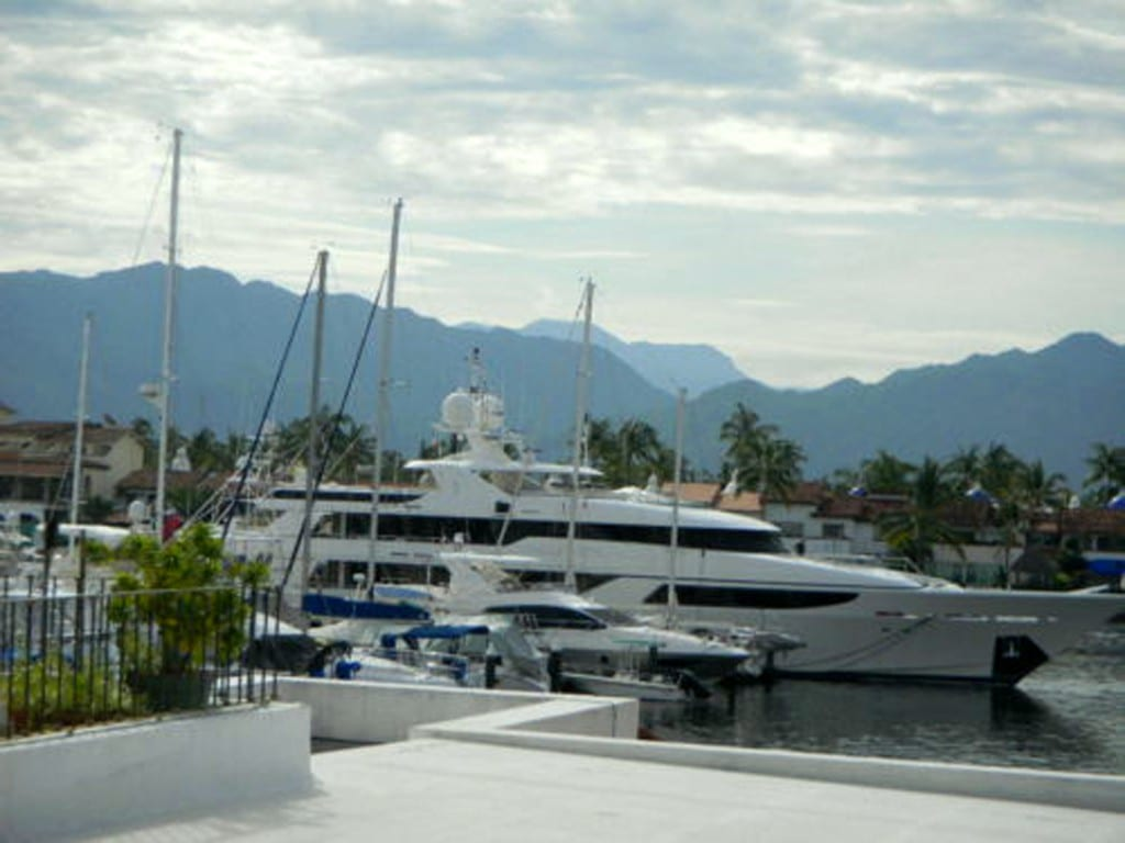 View from our client's window of her retirement condo in Puerto Vallarta, Mexico