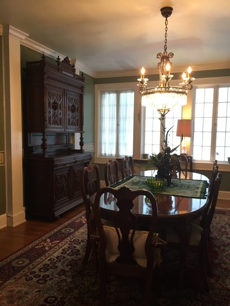Antique French Buffet in Dining room