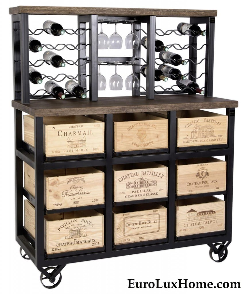 Hobbs Germany Bordeaux Wine Bar Cabinet