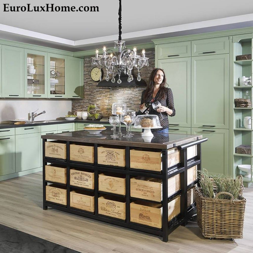 Hobbs Germany Bordeaux Wine Kitchen Island