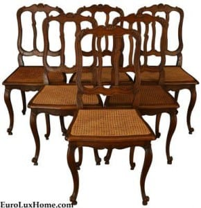 Vintage French DIning Chairs Louis XV Rococo