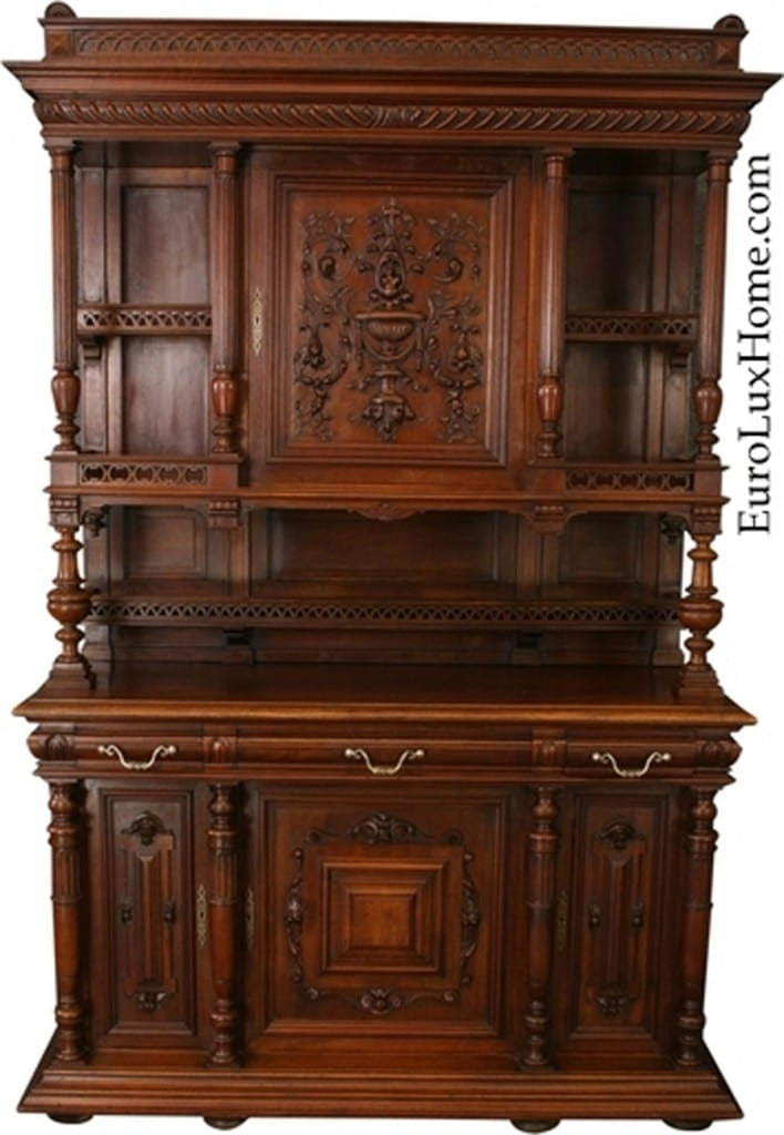 Antique French Renaissance Buffet Open Gallery