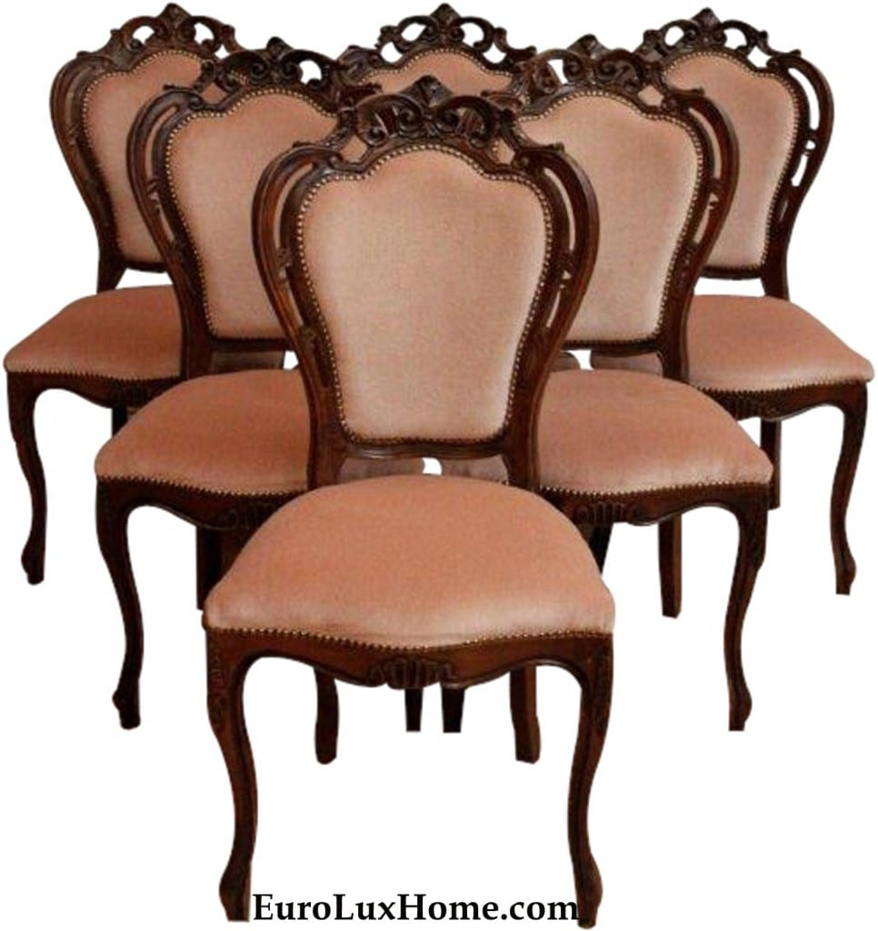 Vintage Rococo French Dining Chair Set