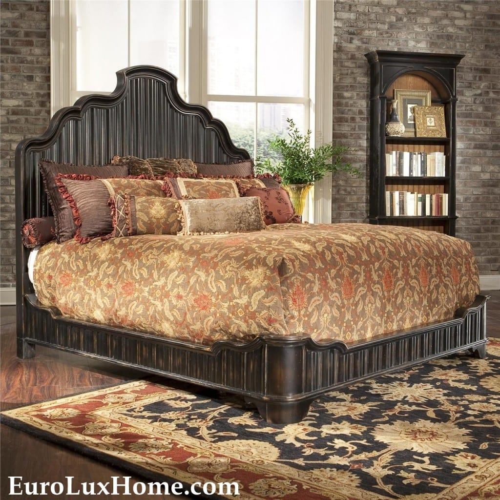 Ambella Home Bonita Bed Hand Rubbed King