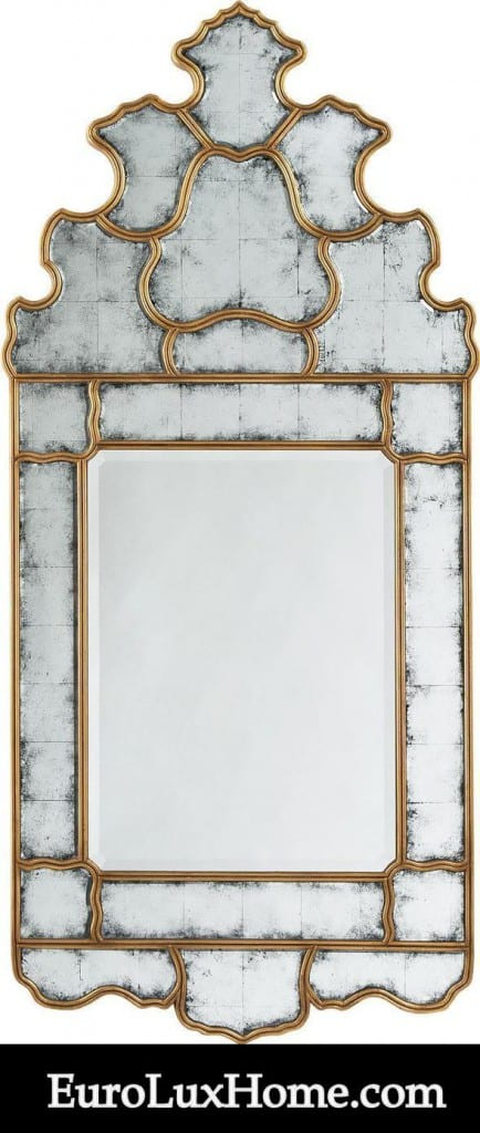 Antiqued Mirror Gold Eglomise
