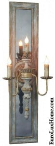 Antiqued Sconce Mirror