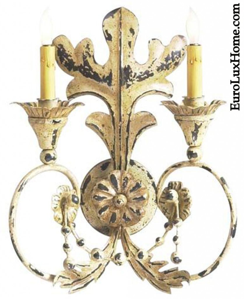 Chelsea House Erusticated Metal Sconce