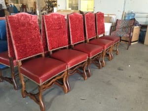 Reupholstered Vintage French  Chairs