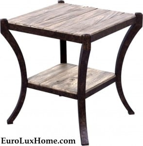 Scarborough House Weathered wood side table