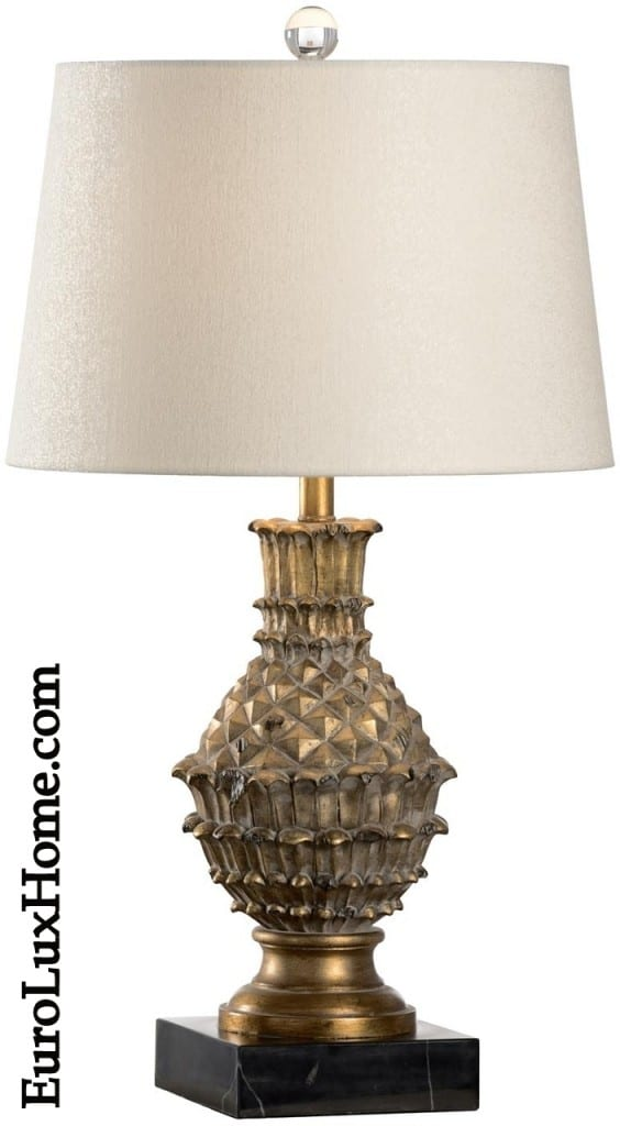 Wildwood Gold Leaf Table Lamp