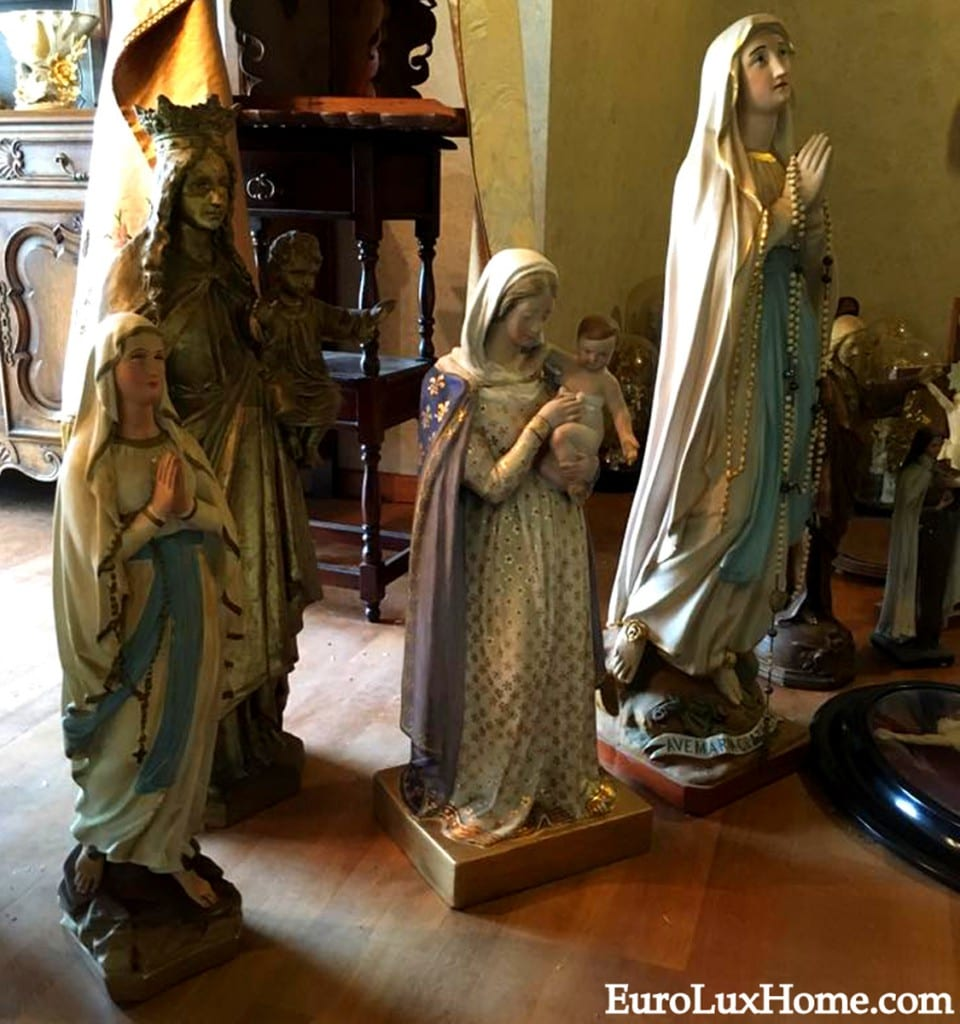 Antique religious statues from Belgium