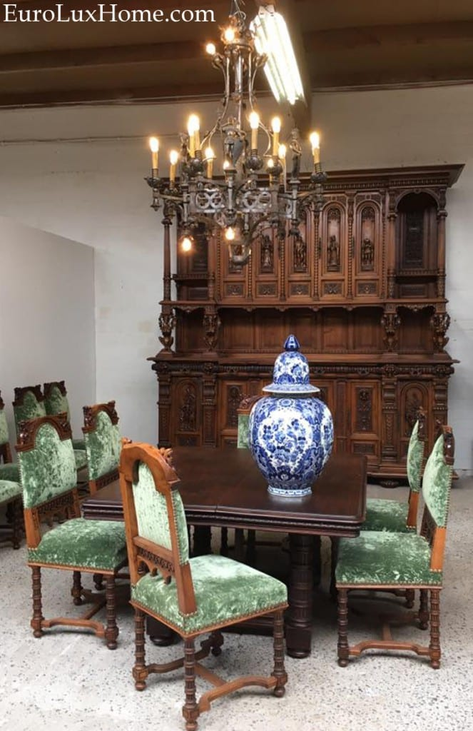 antique Renaissance dining set