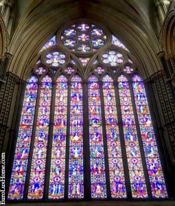 Lincoln Cathedral stained glass window