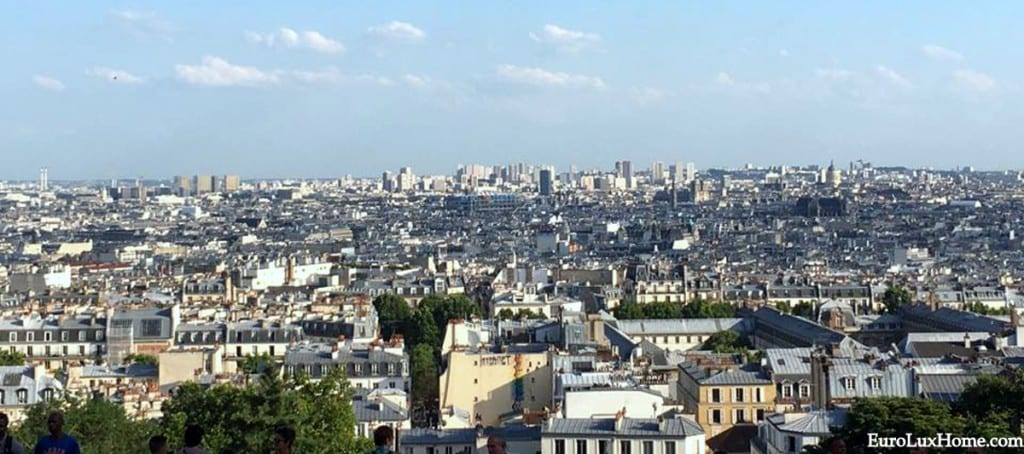 View from Sacre Coeur in Paris