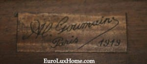 Signed Goumain antique furniture