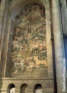 St Eustace painting Canterbury Cathedral