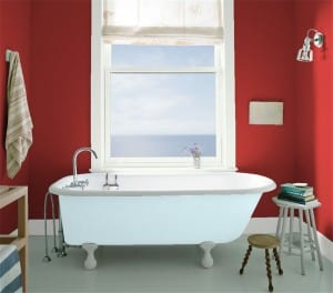 Benjamin Moore Caliente in Bathroom