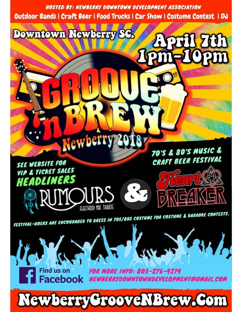 Groove n BrewFest Newberry Poster