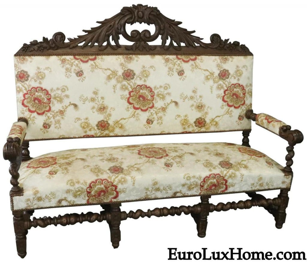 Antique French Renaissance Settee