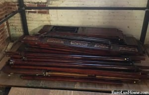 antique Chinese wedding bed in parts