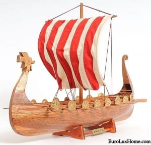 Viking Longboat Model Ship