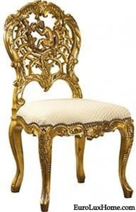 French Heritage Maison Gold Chair