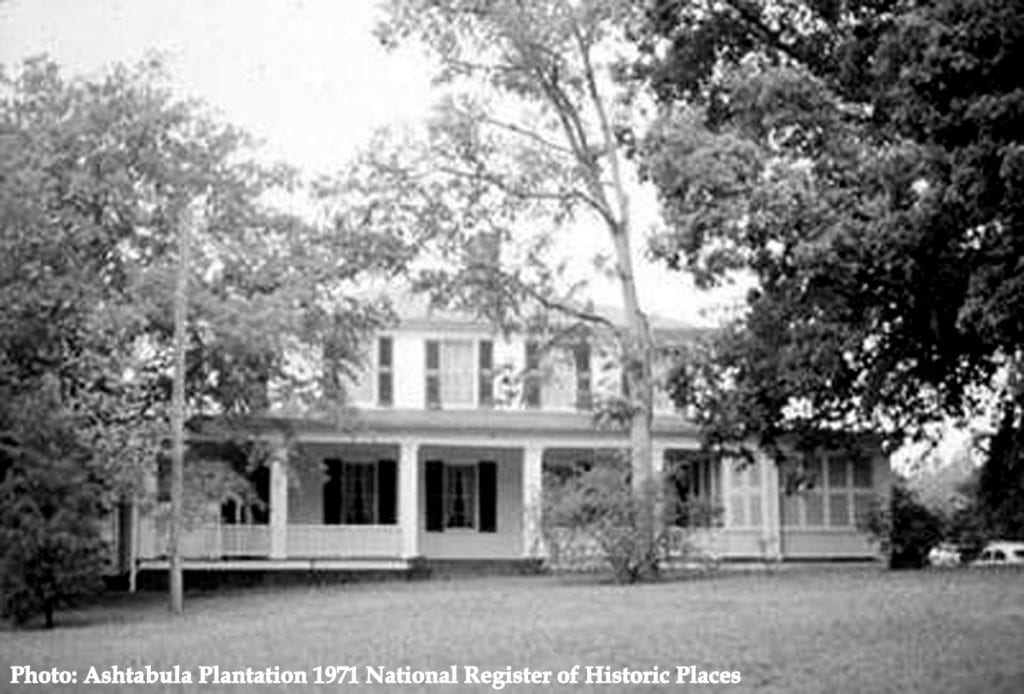 Ashtabula Plantation 1971 National Register of Historic Places