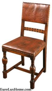 Vintage Leather Renaissance Chair