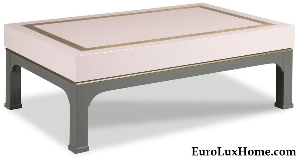 Woodbridge Tobi Fairley Ellison Cocktail Table Pink