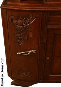 Art Deco buffet carved door