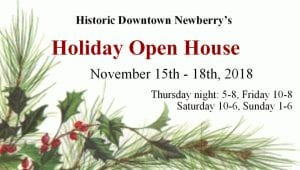 Newberry SC Holiday open house