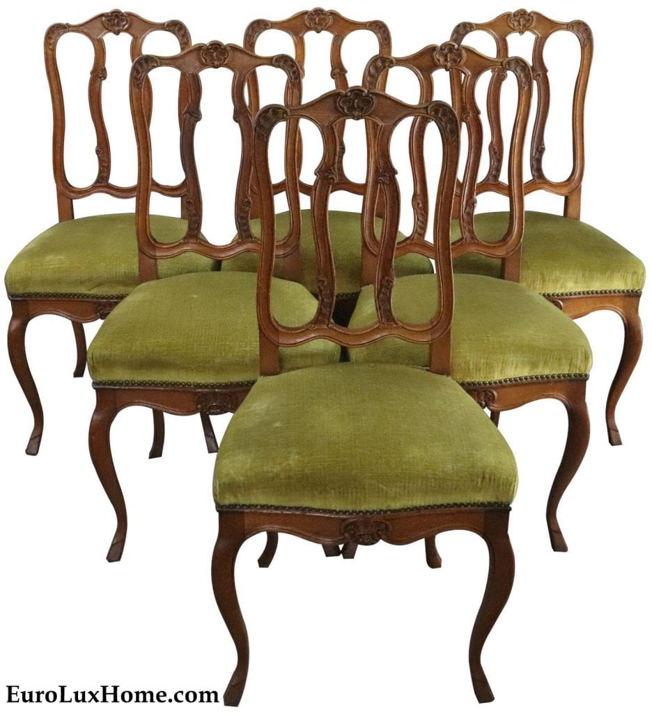 vintage Louis XV French Country dining chairs