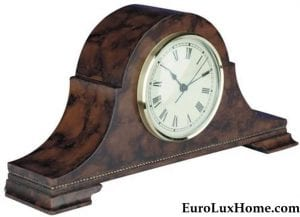 American made Mantle clock camel back hand painted
