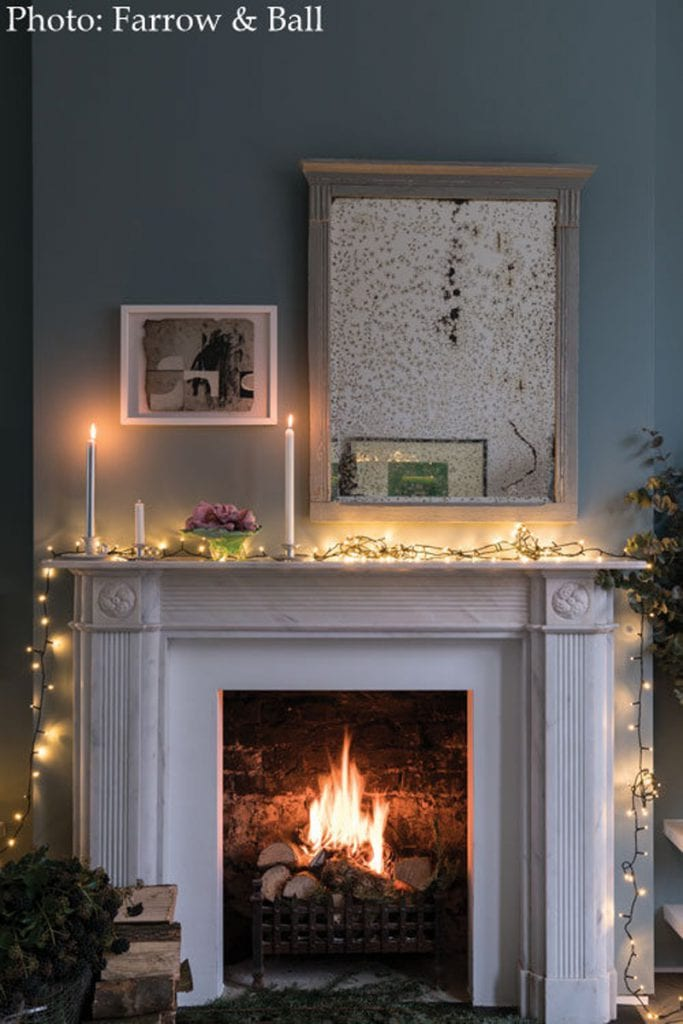 Hygge Farrow and Ball fireplace
