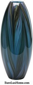 Cyan Design Peacock Blue Feather Glass Vase