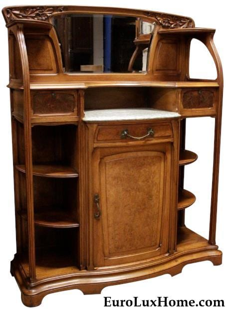 Antique Art Nouveau Buffet Sideboard