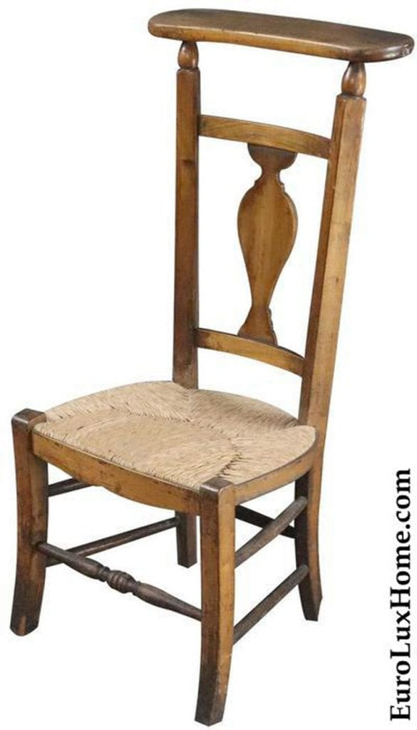 Vintage French Prayer Chair