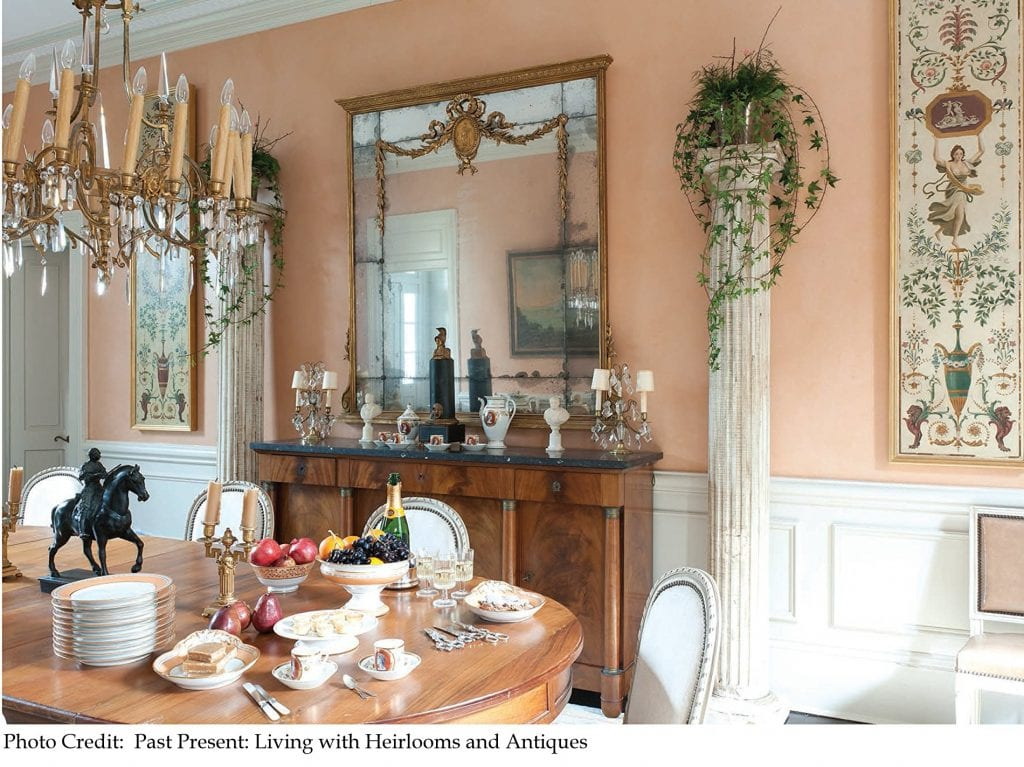 Dining room with antiques