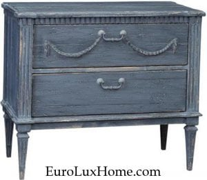 Dovetail Madrill Side Table Blue