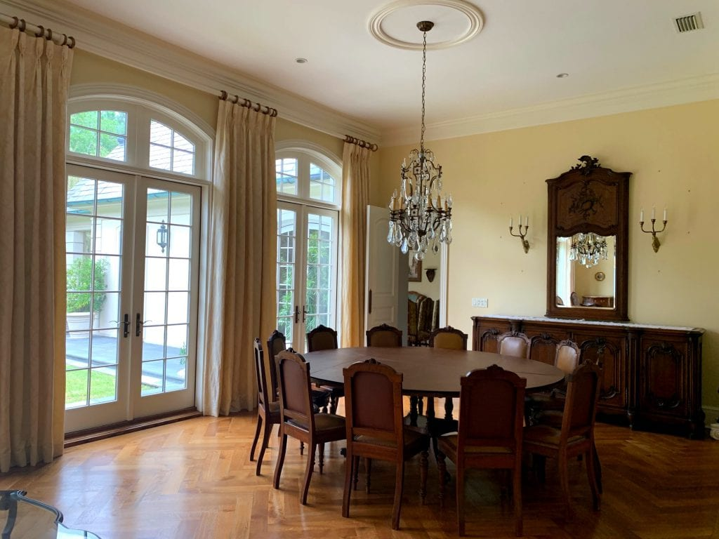 Dining Room with Antique French Louis