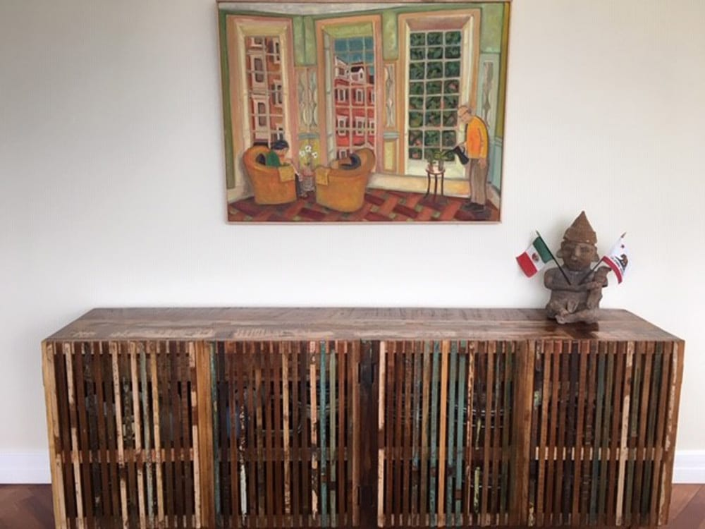 Dovetail sideboard reclaimed wood