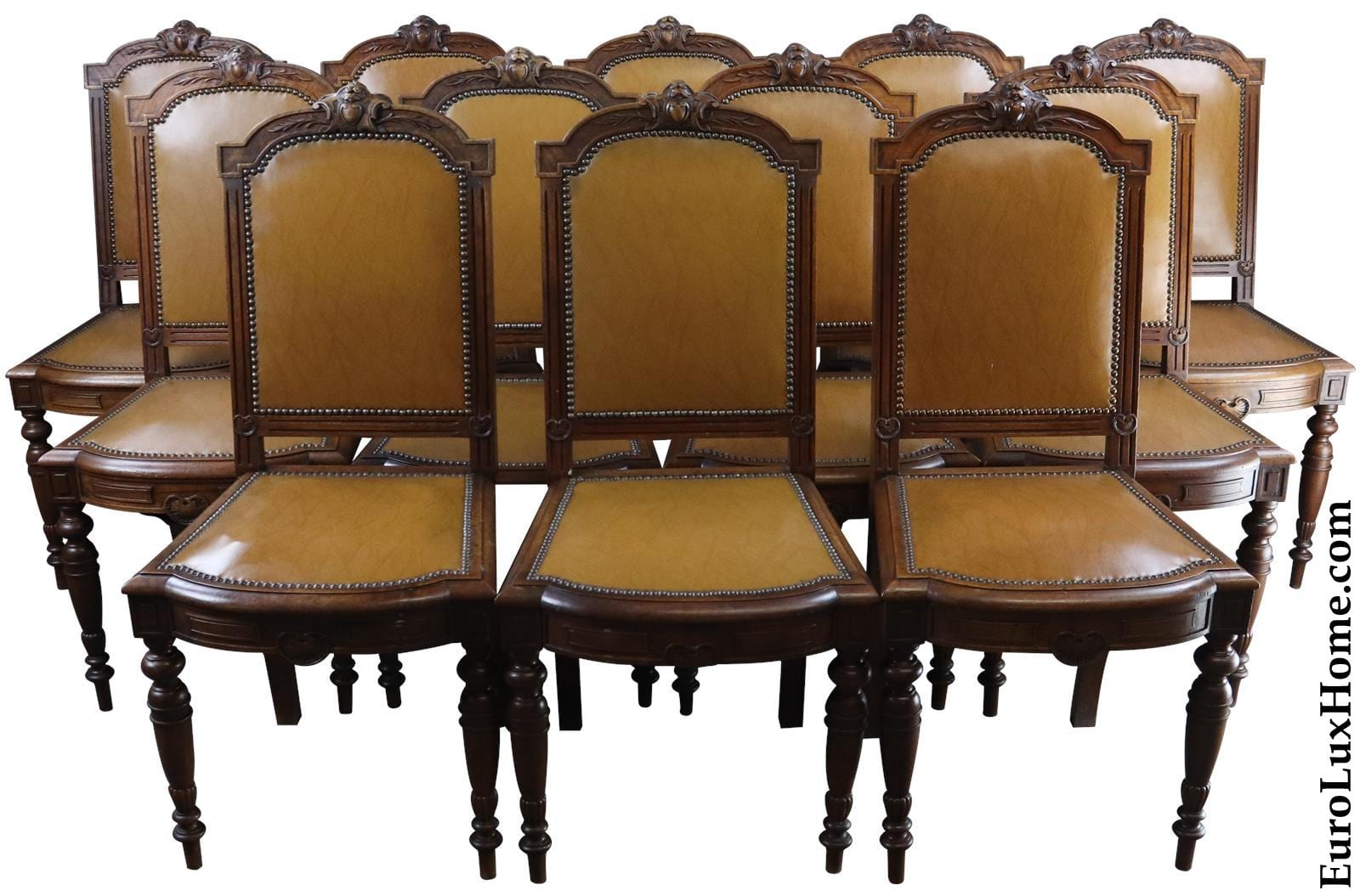 antique French Louis XVI dining chairs from EuroLuxHome.com