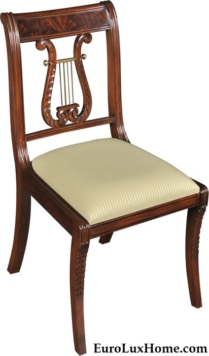 Lyre Back dining chair Regency Style