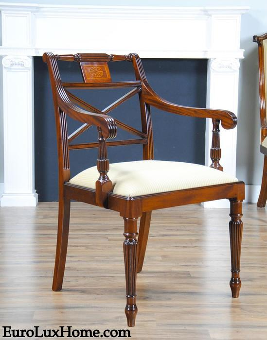 Mahogany Sheraton inspired Regency Chair