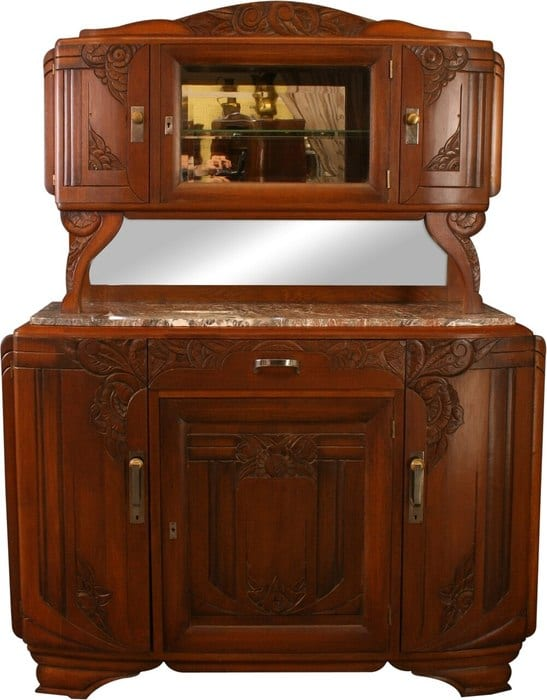 Antique 1920 French Art Deco Buffet